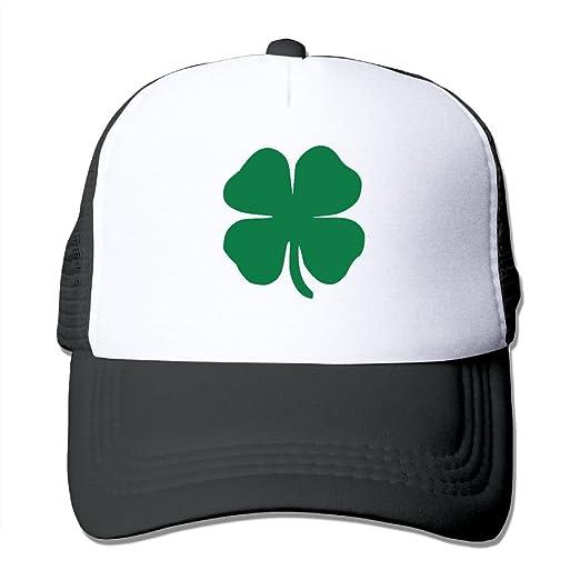 Four Leaf Clover Mesh Hat Baseball Caps Grid Hat Headwear Bandanas ... 027061d865a