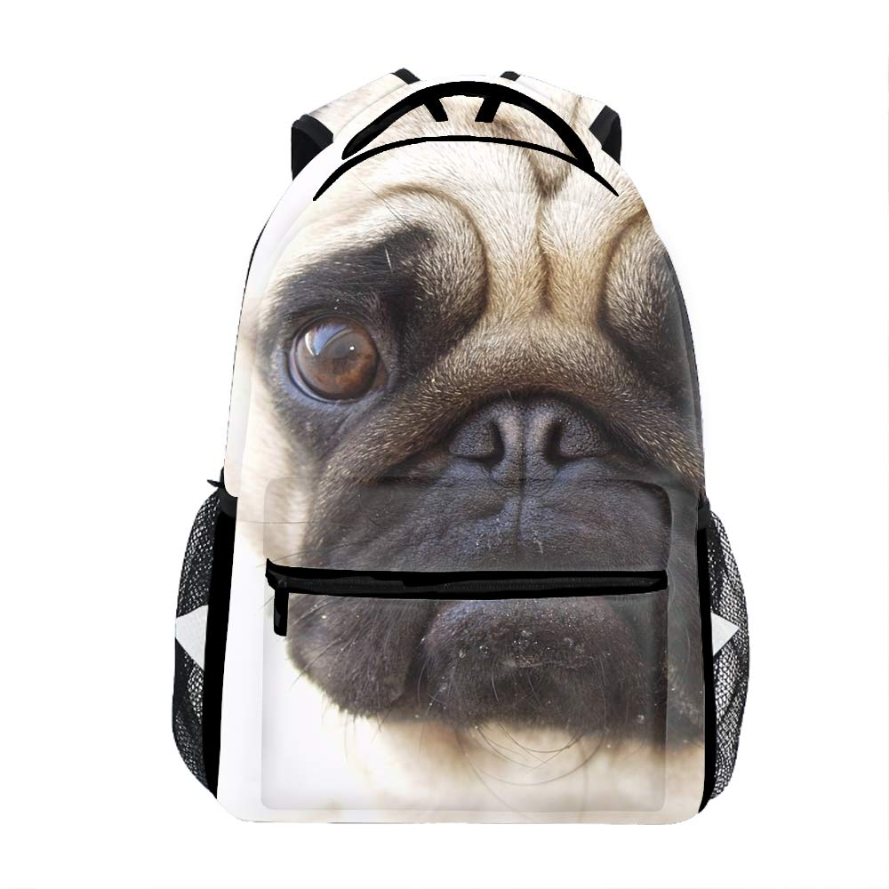Bulldog Faces8 Laptop Backpacks Bulldog Faces Girls Women Travel Daypack Bag