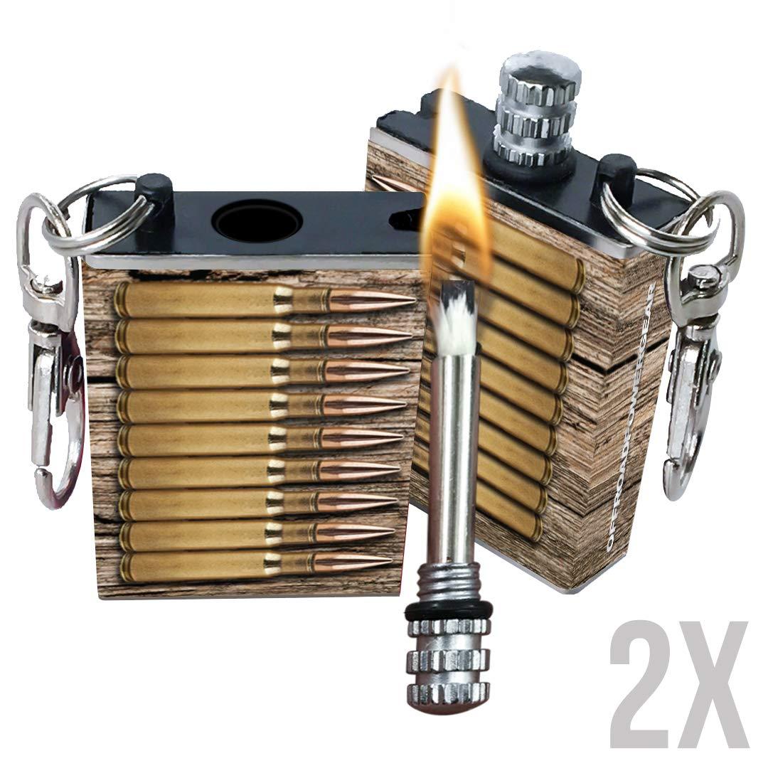 OPG3 Permanent Waterproof Match Emergency Kit Fire Starter Keychain Aluminum Flint Metal Match Camping Equipment Survival Gear (Bullets) by OPG3