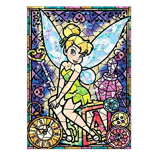 DIY Paint by Numbers for Adults Kids Tinker Bell Paint by Numbers DIY Painting Acrylic Paint by Numbers Painting Kit Home Wall Living Room Bedroom Decoration Disney Tinker Bell