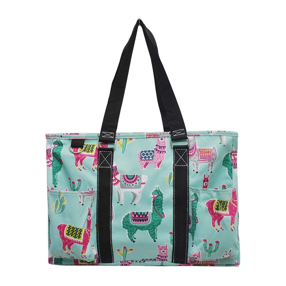 NGIL Zippered Caddy Organizer Tote Bag Llama-Black