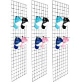 Bonnlo 6' x 2' Wire Grid Panel for Retail Display Gridwall, Wire Grid Wall Display Rack, 3-Pack Black