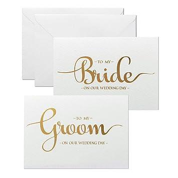 Amazon.com: Magjuge Juego de tarjetas de boda para el día de ...