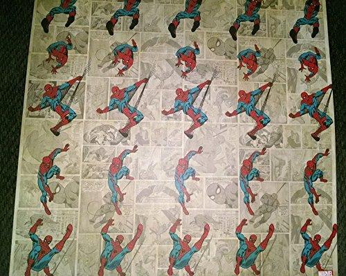 (Marvel Comics Spiderman Scrapbook Papers - 5 Sheets)
