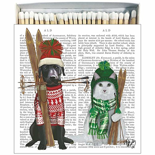 Paperproducts Design 27172-60 Matches in Square Gift Box with William & Kate Fab - Fab Dog Designer