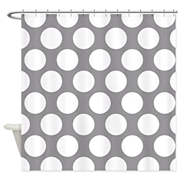 Amazoncom Cafepress Pebble Grey Polkadot Shower Curtain Decorative