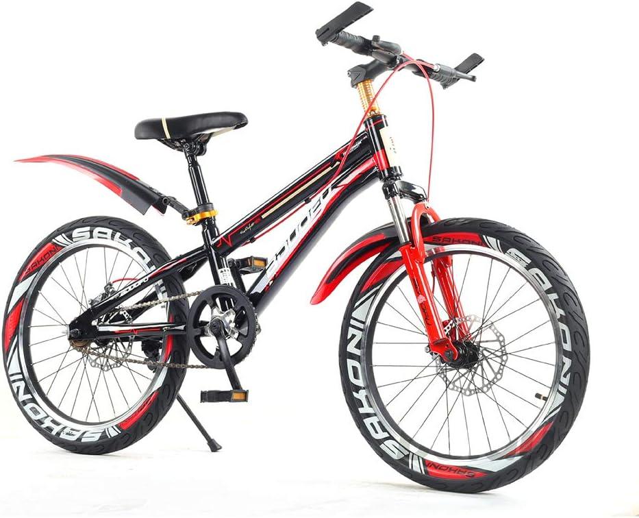 SJSF Y Bici 16/18/20 Pulgadas con Frenos Bicicleta Infantil para Niños Y Niñas A Partir De 6-15 Años- Neumático Inflable - Ajuste Cómodo - Pequeño Cableado - Princess Bike,18inch