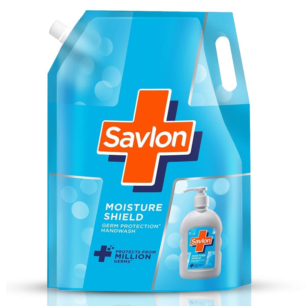 Savlon Moisture Shield Germ Protection Liquid Handwash Refill Pouch, 1500ml