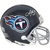 $89 » AJ Brown Autographed/Signed Tennessee Titans VSR4 2018 Mini Helmet BAS