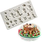 Forest Animal Silicone Mold Cake Fondant Mold Clay Moulds Candy Sugar Chocolate Making Tool for Baby