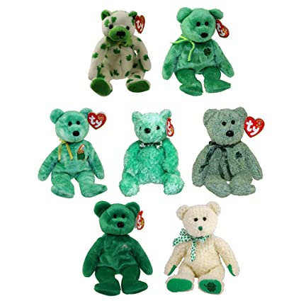 01641860fae Amazon.com  TY Beanie Babies - ST. PATRICK S DAY (Set of 7) (Dublin ...