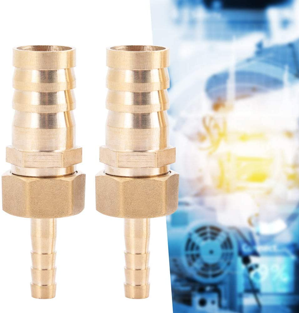 6-19mm 6mm-14//16//19//25mm Brass Fitting Hose Barb Straight Pagoda Joint Copper Tail Reducing Pipe Plug Connector Air Gas Water Fuel for Pipe Maintenance