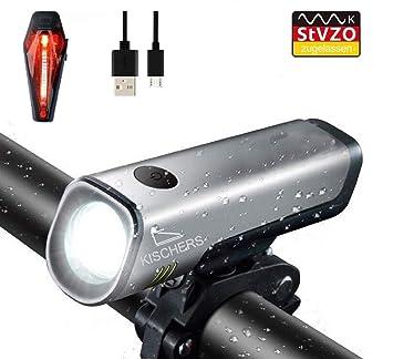 LED Fahrradbeleuchtung Fahrradlicht Fahrradlampe Fahrrad Lampenset Vorne Hinten