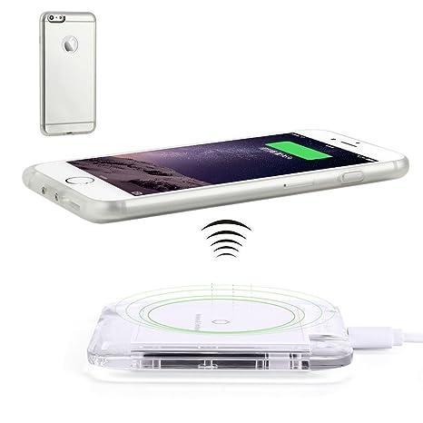 Antye Qi Cargador Inalámbrico, para iPhone 6 6S (4.7 ...