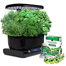 Miracle-Gro AeroGarden Harvest (LCD Control Panel) with Gourmet Herb Seed Pod Kit, Black
