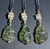 MOLDAVITE & Phenacite Necklace in Real