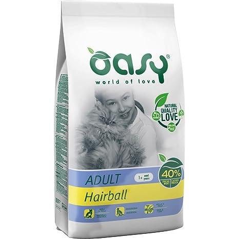 OASY Comida para gatos seca de 1,5 kg de bolas de pelo Comida seca