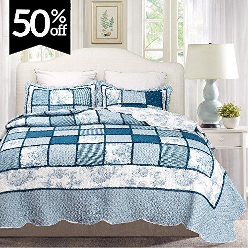 queen patchwork quilt set - 4