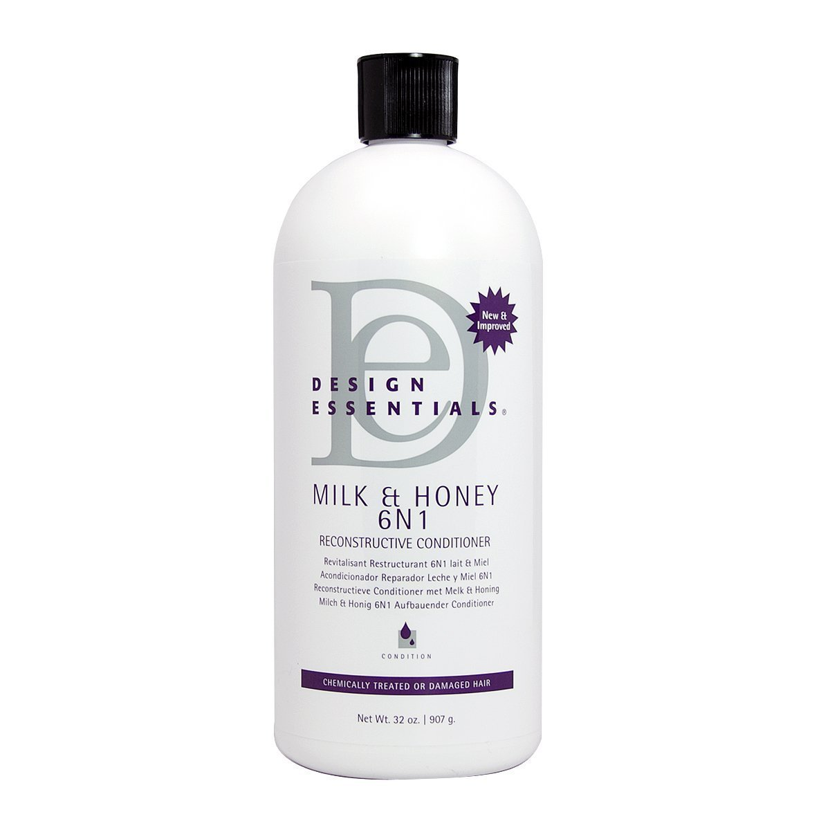 Amazon.com : Design Essentials Milk & Honey 6N1 Reconstructive Conditioner, 32oz : Beauty