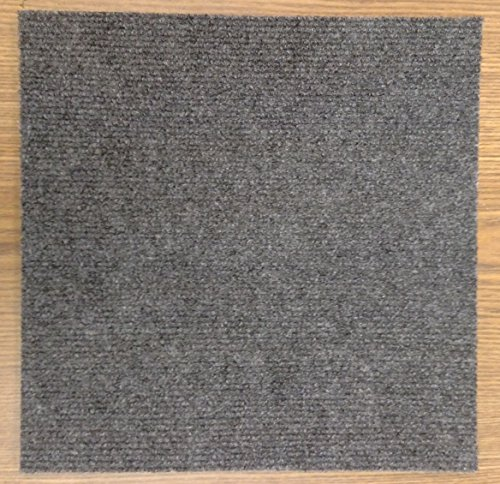 "Carpet Tiles Self Stick 12"" (144 Sq. Ft.) Charcoal Gray"