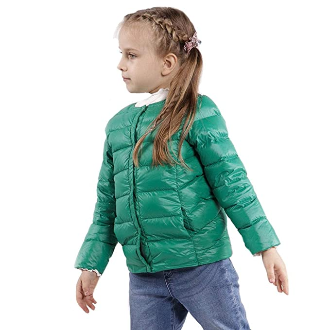 a95ba4628 RSTJ-Sjc Chaqueta de abajo para niños otoño e invierno. Chaqueta ligera de  cuello redondo. Manga larga