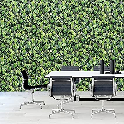 Muriva Ivy Leaf Pattern Wallpaper Realistic Photo Faux