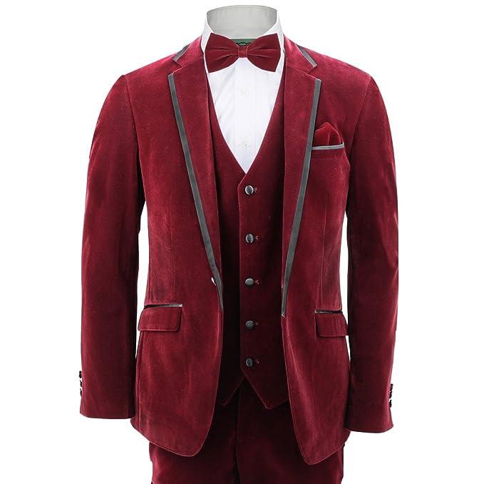Xposed - Traje - Básico - para hombre rojo rojo (Maroon ...