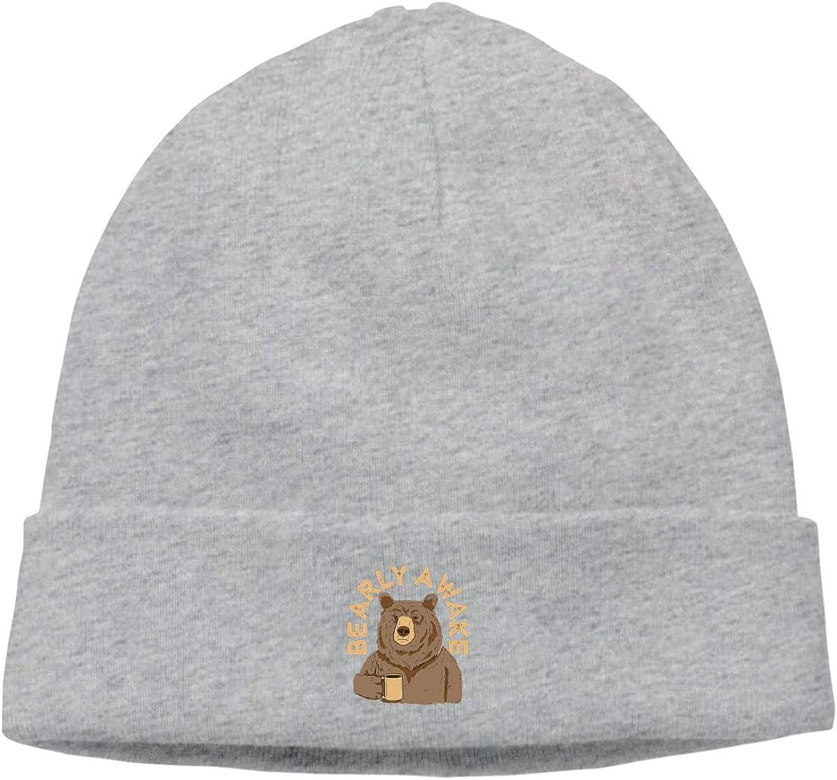 Simoner Bearly Awake Warm Stretchy Solid Daily Skull Cap,Knit Wool Beanie Hat Black