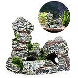Best Decoration Fishes - Stebcece Aquarium Mountain View Rock Cave Tree Bridge Review