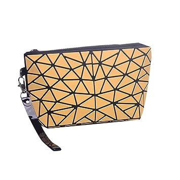iBaste_top Bolsa de Almacenamiento portátil para Mujer, Bolso de Embrague de Viaje Plegable de cosméticos rombo: Amazon.es: Hogar
