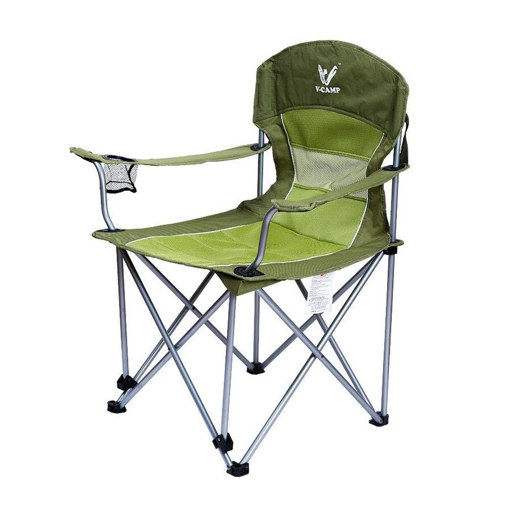 Xy Hocker Klapp Camping Stuhl Outdoor Freizeit Klappstuhl Gesteppt Warm Halten Strand Stuhl Sessel Tragbare Komfortable Rest Stuhl (Farbe   Grün)