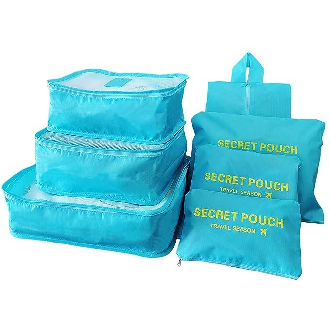Amazon.com: Sackorange - Juego de 7 bolsas de almacenamiento ...
