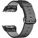 Fintie Gear S2 Armband - Premium Nylon UhrBand Uhrenarmband Erstatzband Replacement für Samsung Gear S2 SM-R720 / SM-R730 Smart Watch (Nicht für Gear S2 Classic), Schwarz