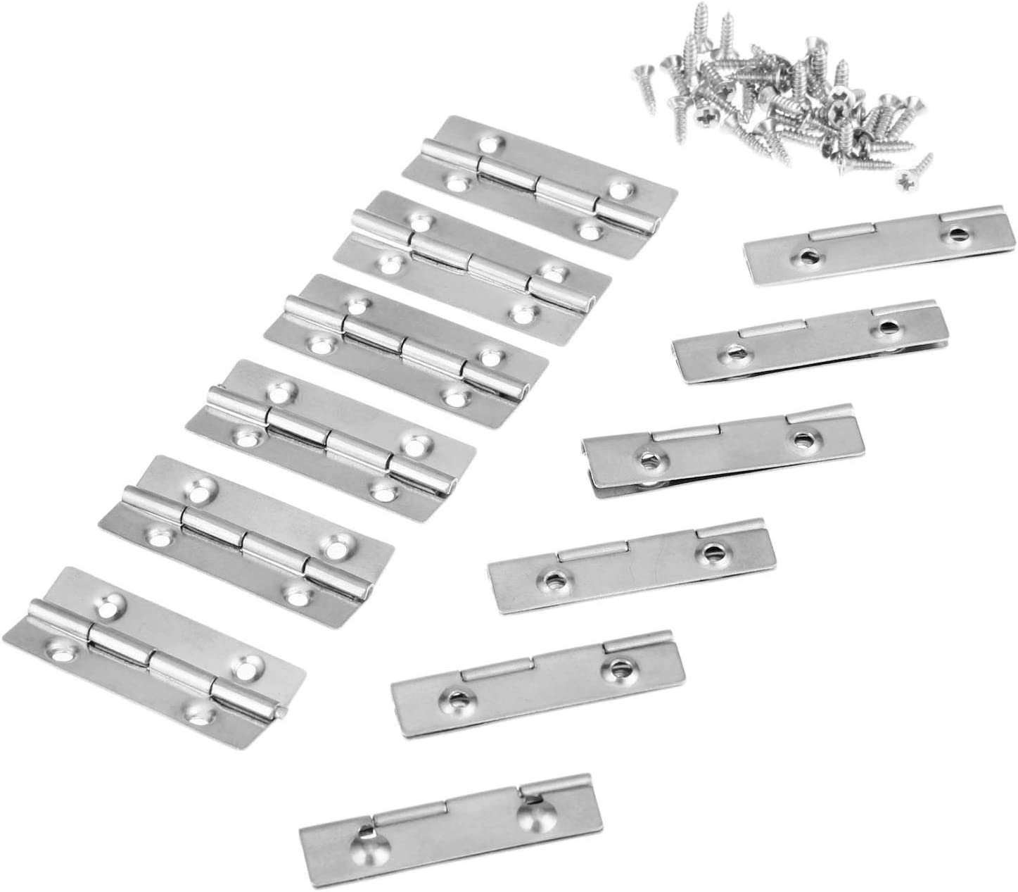 Door Hinges 12Pcs 35x15mm Stainless Steel Butt Hinge for Cabinet Drawer Door Kitchen Window 4 Small Hole Hinge with Screw Furniture Fittings Door accessories
