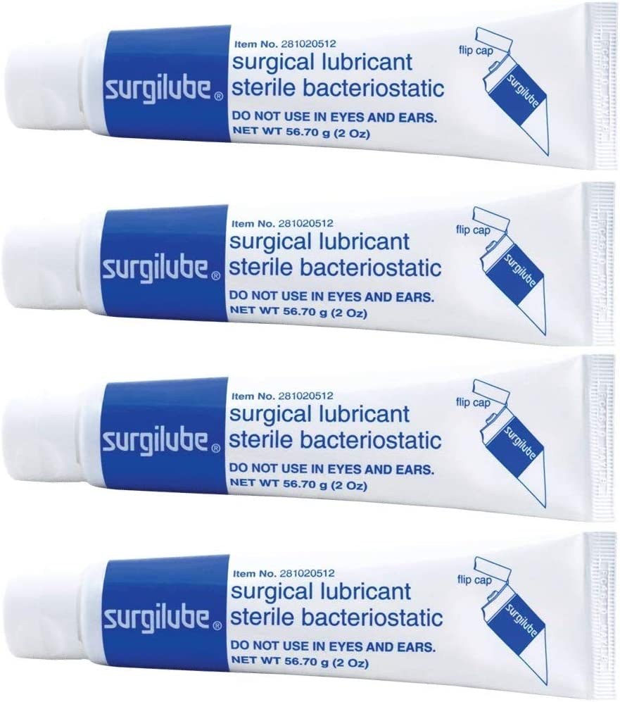Surgilube Surgical Lubricant Sterile Bacteriostatic Jelly - 4.25 Ounces Each (Value Pack of 4)