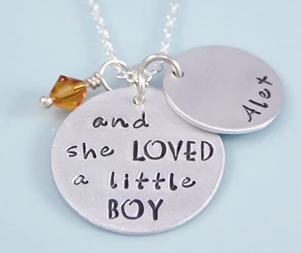 with and charm silver child lasts little boy that mothers memory mother necklace a