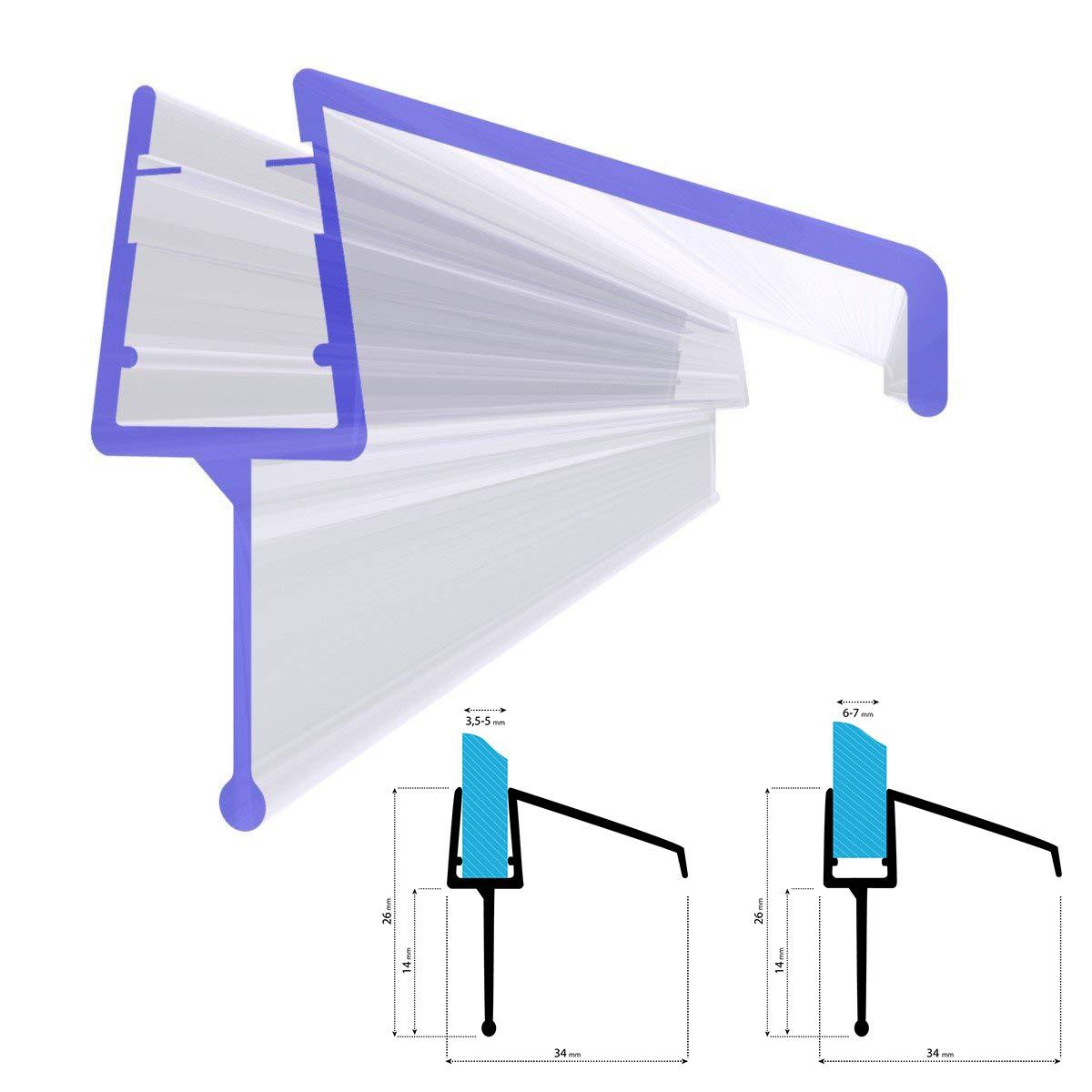 Steigner, guarnizione ricambio doccia per spessore vetro 5/6/7/8mm, protezione da getti UK21, 54498389