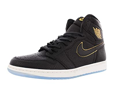 taille 40 19bd8 bd26d Air Jordan 1 Retro Hi OG Noir 555088-031: Amazon.fr ...