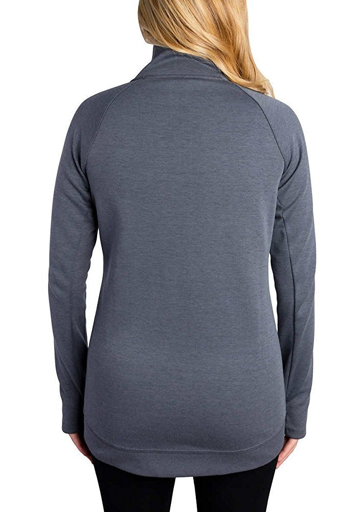 Kirkland Signature Ladies Full Zip Jacket (Dark Gray, Medium) by Kirkland Signature (Image #4)
