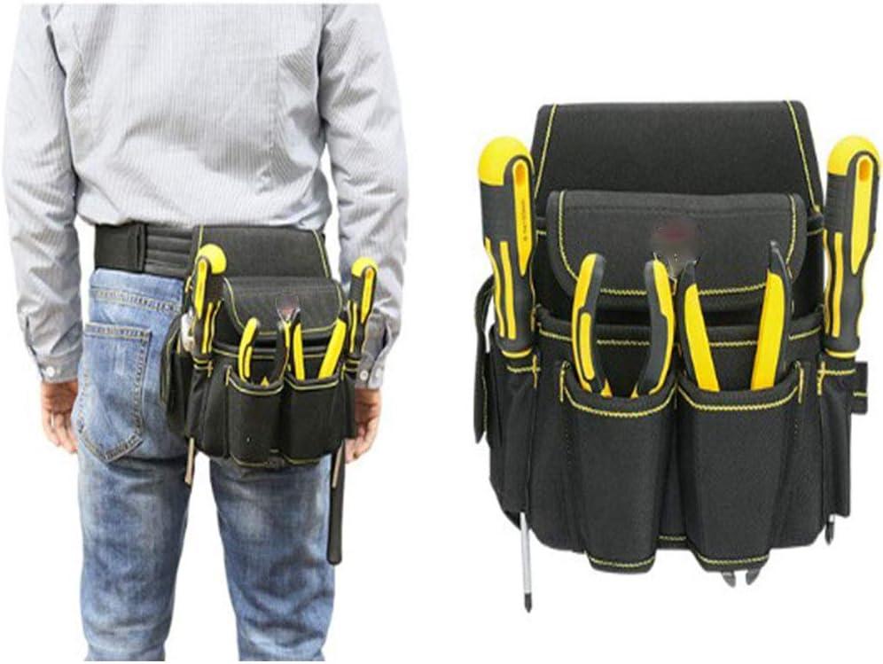 Herramienta multiFuncional pretina electricista bolsa Oxford bolsa cinco agujeros herramienta paquetes hombro espalda doble uso