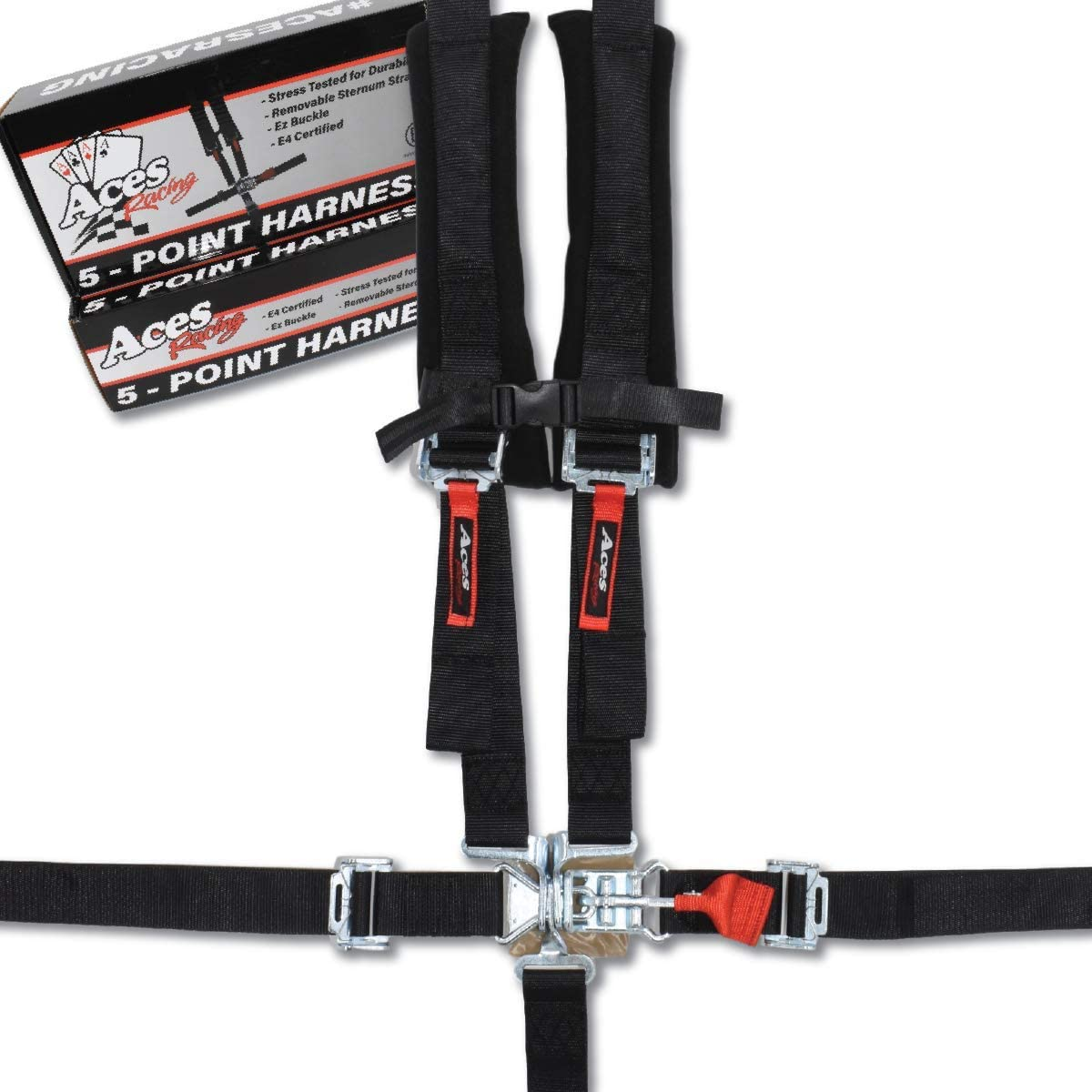 Black Aces Racing 5 Point Harness with 2 Inch Padding E4 Certified