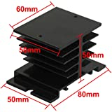 Aluminum Heat Sink for Solid State Relay SSR Heat Dissipation