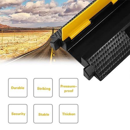 99 x 26 x 8 cm Kabelkanal Br/ücke Boden Kabelbr/ücke /Überfahrschutz PVC Kanal Schnur Schutz Gummi PVC Speed Bump Rampe Protector Kabelschutzh/ülle mit ineinandergreifendem Design