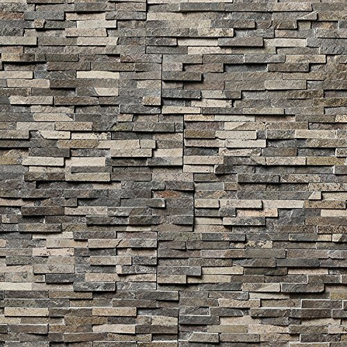Koni Stone Citali Series Eos 5 sq. ft. Panel 6 in. x 24 in. x 0.80 in. – 1.30 in. Natural Stone by Koni Stone