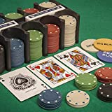 Tobar Casino Games Blackjack Poker Roulette Playing Cards & Chips Game Set