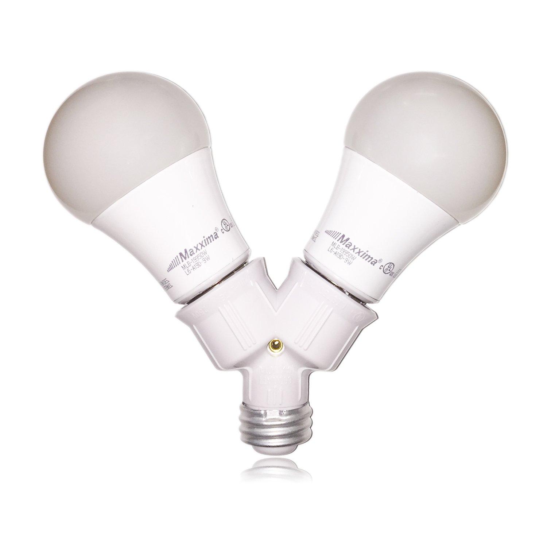 Maxxima light bulb socket splitter for led cfl and standard bulbs maxxima light bulb socket splitter for led cfl and standard bulbs pack of 3 amazon arubaitofo Choice Image