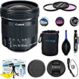 Canon EF-S 10-18mm f/4.5-5.6 IS STM Lens + Deal-Expo Accessories Bundle
