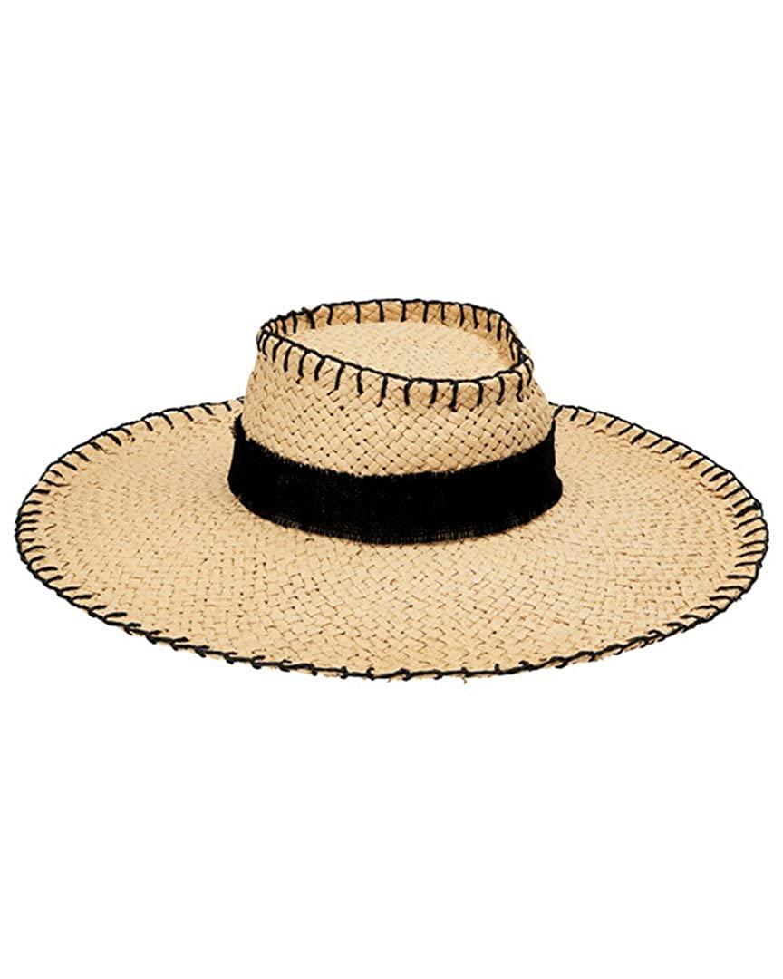 San Diego Hat Company Women s Whip Stitch Wide Brim Boater Hat ... 290eed21696