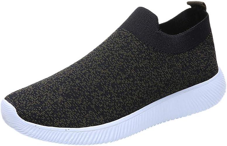 MRULIC Damen Laufschuhe Outdoor Mesh Lässige Sportschuhe Atmungsaktive Schuhe Turnschuhe Sneakers Leichte Gestrickte Schuhe Racer Fitnessschuhe