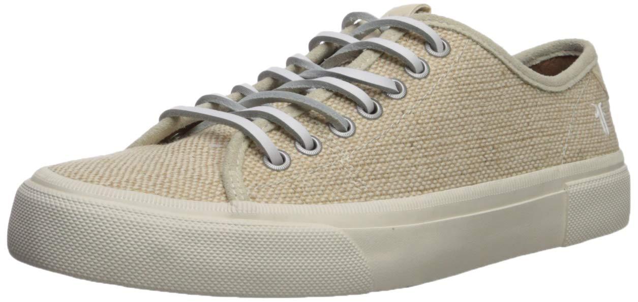 FRYE Men's Ludlow Low Tennis Shoe, Off White, 11.5M